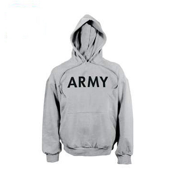 Army Pullover Hooded Sweatshirt | Grey