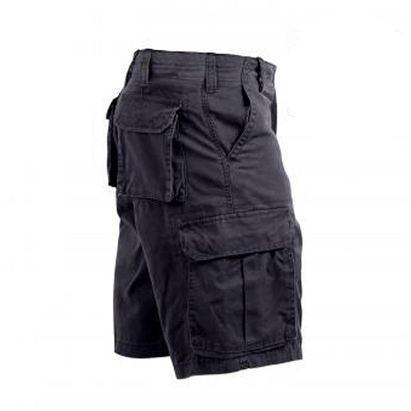 Vintage Wash Cargo Short | Black