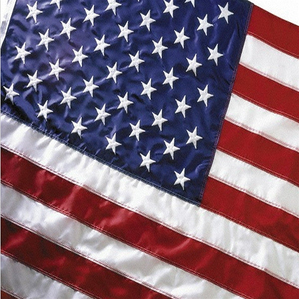 Quality 2 Ply Embroidered American Flag | Multiple Sizes