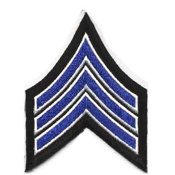 Sergeant Chevron NYPD Style Set of 2 Small or Large