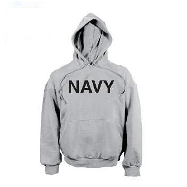 Navy Pullover Hooded Sweatshirt | GREY