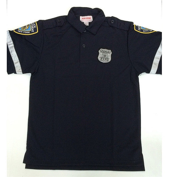 NYPD polo with patches