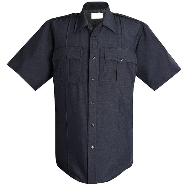 Exclusive NYPD Short Sleeve Power Stretch Shirt w Zipper