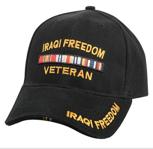 Low Profile Insignia Hat | Iraqi Freedom Veteran | Black