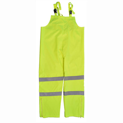 ANSI/ISEA 107-2010 Class E Lime Waterproof Rain Bib Pants