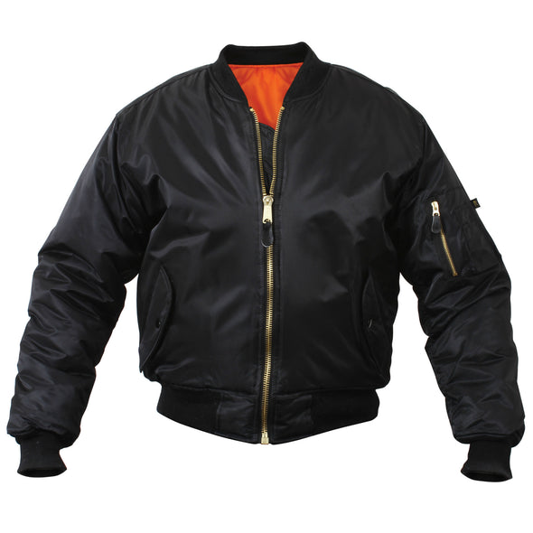 MA-1 Flight Jacket  Soft Shell | Matte Black