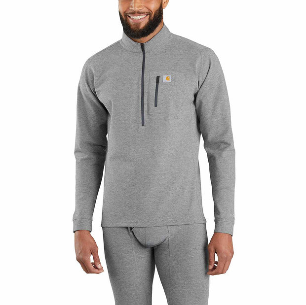 Carhartt Heavyweight Quarter Zip Thermal | Heather Grey & Heather Brick