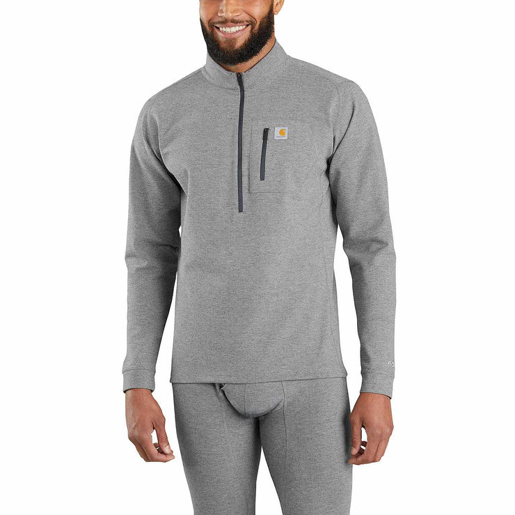 Carhartt Heavyweight Quarter Zip Thermal | Heather Grey