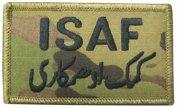 ISAF Patch Velcro | Green Trim