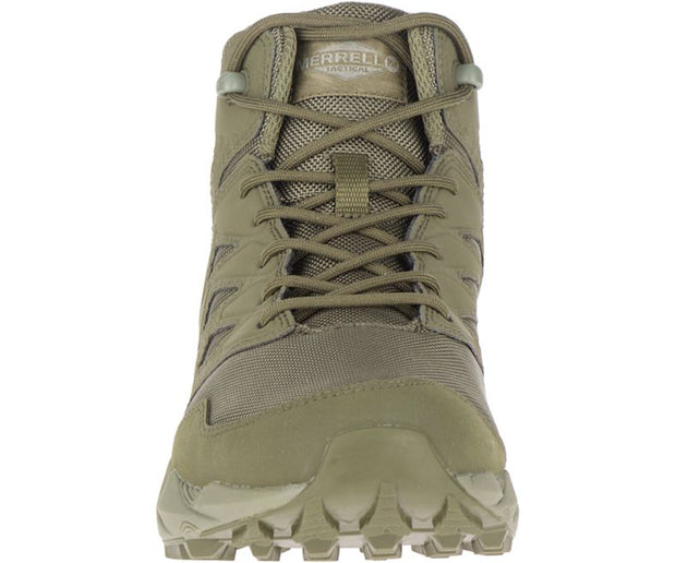 Merrell Agility Peak Mid Tactical Waterproof Hiker in Olive