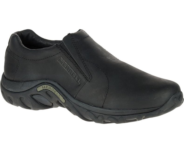 Merrell Leather Slip on Jungle Moc in Midnight Black
