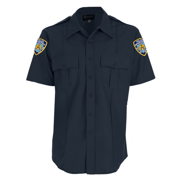 NYPD Poly/Cotton Short Sleeve Shirt with Patches