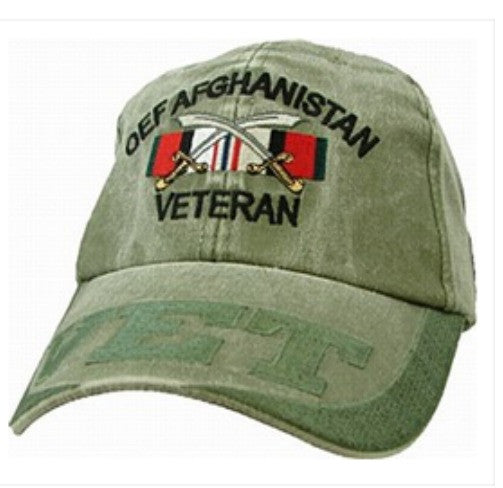Low Profile Insignia Hat | OEF Afghanistan Veteran | Olive