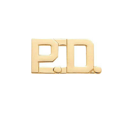"'PD' Police Department Insignia 1/2"" Letter 