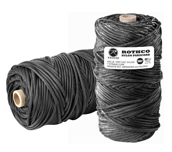 Nylon Paracord 550lb 300 Ft Tube | Multiple Colors