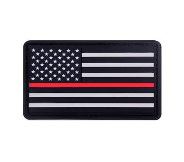 Thin Red Line Rubber Flag Patch | Velcro