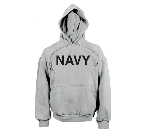 Navy PT Style Hooded Sweatshirt  in Grey