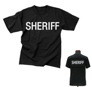 2-Sided Sheriff T-Shirt | Black
