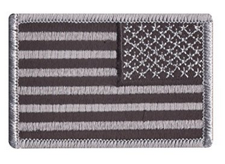 Reverse Flag Patch Velcro | Dark Grey
