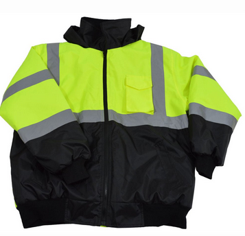 Hi Vis Class 3 Waterproof Bomber Jacket with Removable Liner