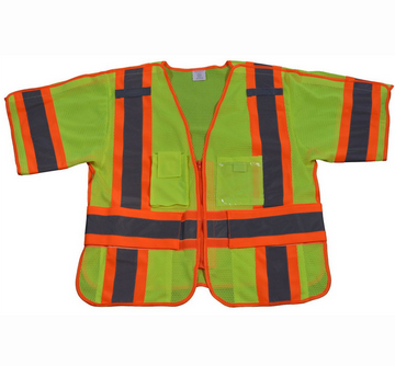 Hi Vis Class 3 Breakaway Short Sleeve Shirt/Vest , Two Tone Deluxe