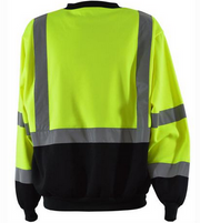 Hi Vis Class 3 Two Tone Black Bottom Crew Neck Sweatshirt