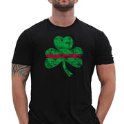 "Thin Blue-Red Line ""Shamrock"" T-Shirt"