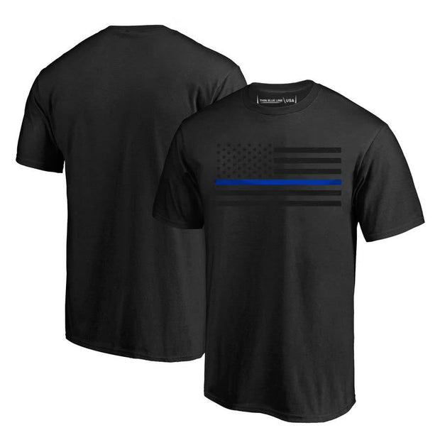 "Thin Blue Line ""Subdued Blue Line Flag"" T-Shirt"