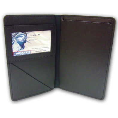 Ticket Book Holder | Black | Leather | Two Sizes