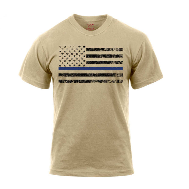Thin Blue Line Tee Shirt | Desert