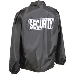 Classic Security Windbreaker Jacket | Black