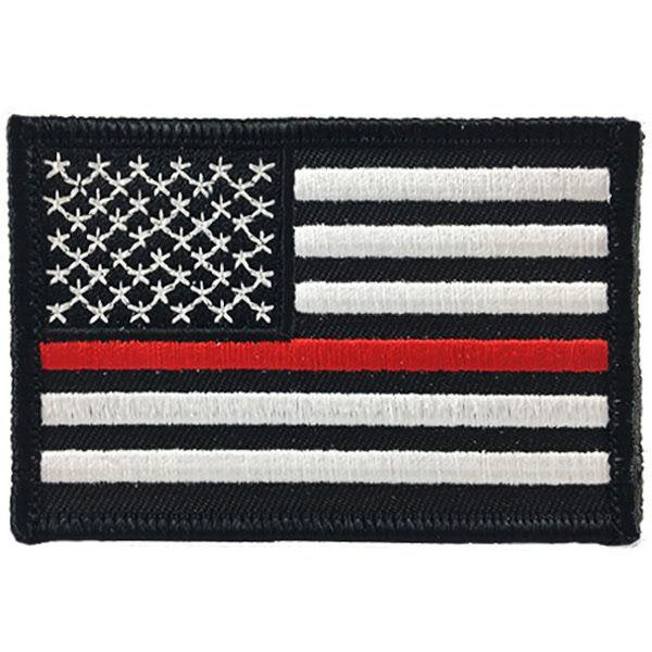 Thin Red Line Flag Patch | Velcro