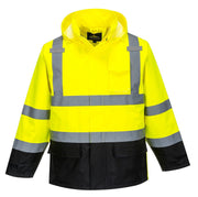 Waterproof Hi VIs Contrast Rain Jacket