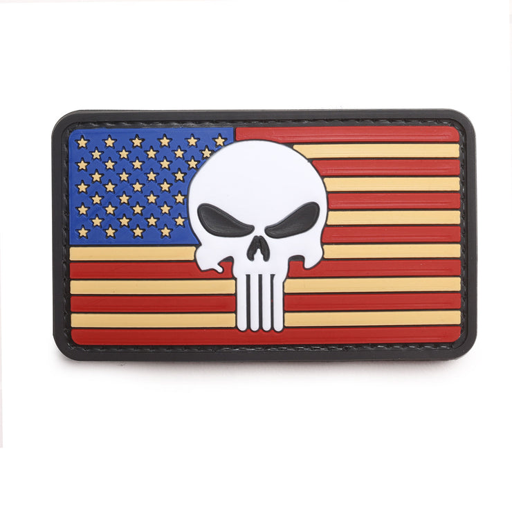 Punisher American Flag Patch | Velcro