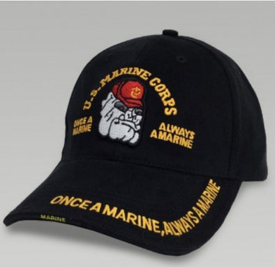 Low Profile Insignia Hat | U.S Marine Corps | Black