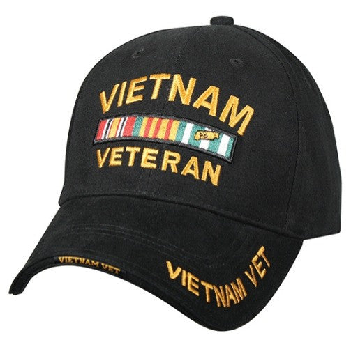 Low Profile Insignia Hat | Vietnam Veteran | Black