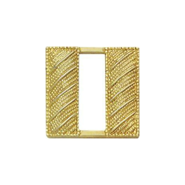 Captain Insignia Corrugated | Small | Gold or Silver