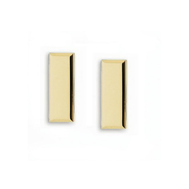 Lieutenant Insignia Collar Bars | Smooth | Small | Gold or Silver
