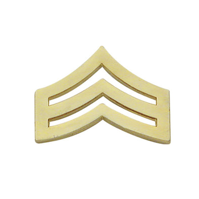 Sergeant Chevron Collar Insignia | Gold or Silver
