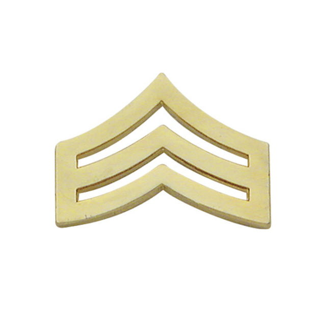 Sergeant Chevron Collar Insignia | Large | Gold or Silver