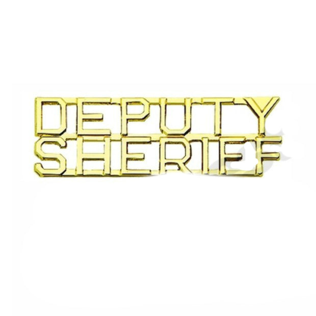 "Deputy Sheriff Insignia 1/4"" Letter 