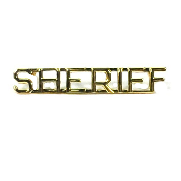 "Sheriff Insignia 1/4"" Letter 