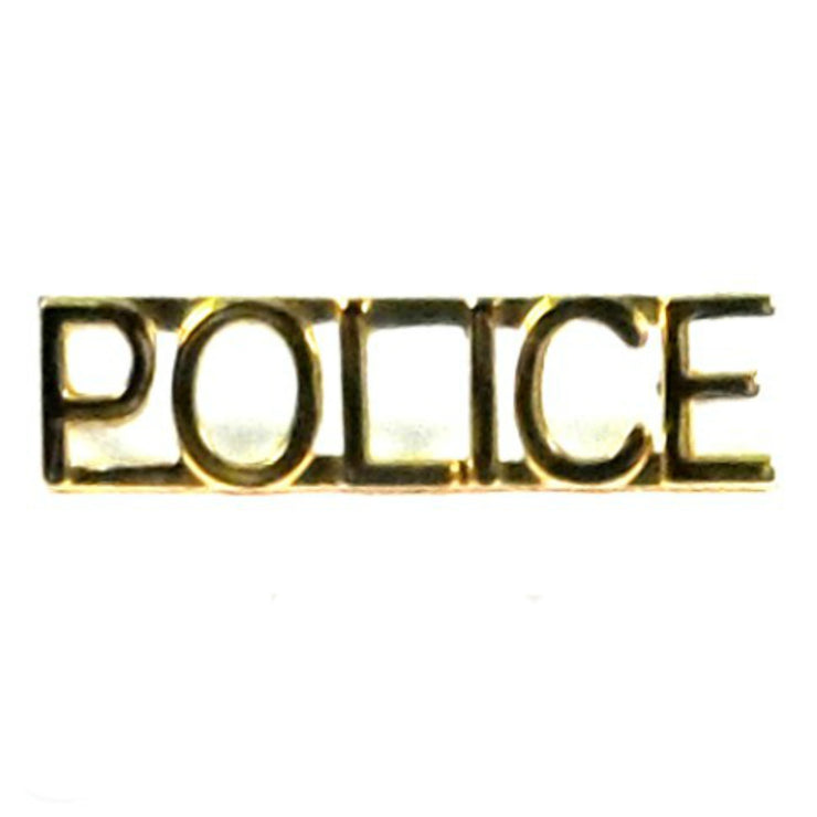 "'Police' Insignia 1/4"" Letter 