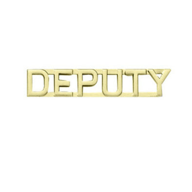 "Deputy Insignia 1/4"" Letter 