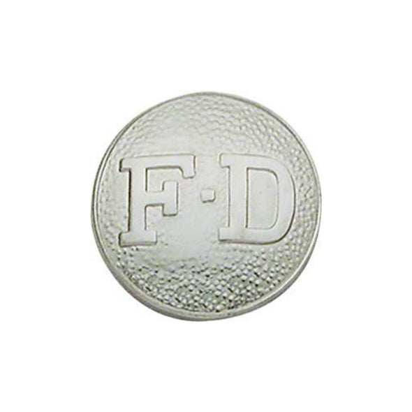 Fire Department Round Disc  | Gold or Silver