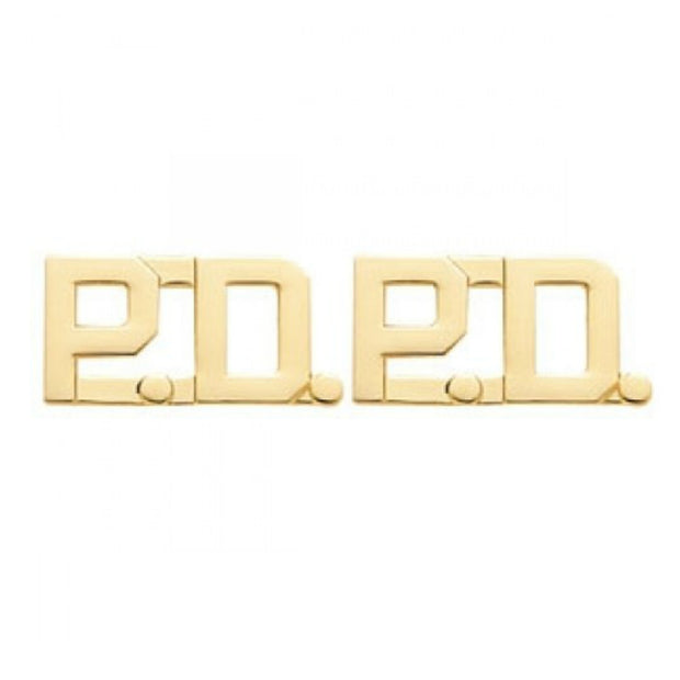 "'PD' Police Department Insignia 3/8"" Letter 