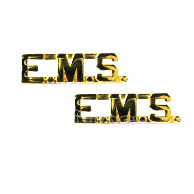 "EMS 3/8"" Letters Collar Insigina  