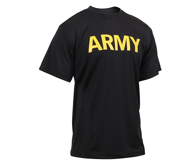 Army Physical Training Shirt | BLACK