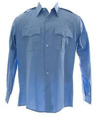 Valor Duro Poplin Long Sleeve Shirt | Medium Blue