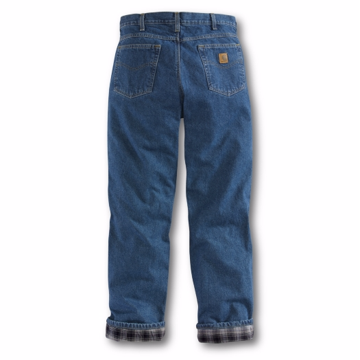 Carhartt Relaxed Fit Straight Leg Flannel Lined Jean
